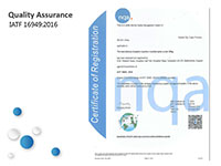 Quality Assurance: IATF 16949:2016
