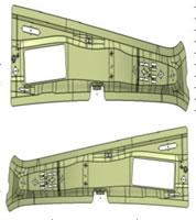 B Column Upper Inner Plate Mold