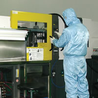 Medical Clean Room, Molding, Class 100000, Biomaterial Polymerization, Compounding Injection Molding