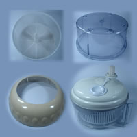 Samples, Kitchenware Plastic Parts, Made By Injection Molds