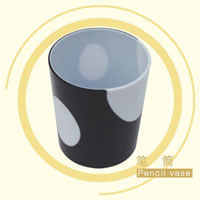 Injection Molded Plastic Pencil Vase, Brush Pot