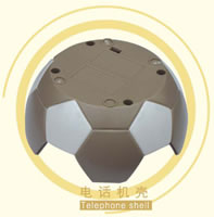 Injection Molded Plastic Telephone Shell, Football Shape