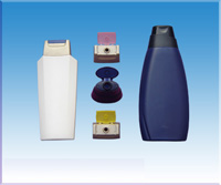 Plastic Shampoo Bottles From Blow Moulds, Plastic Shampoo Caps From Injection Moulds