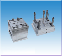 Injection Mould For Plastic Screw Cap With Mechanical Ridges Twisting Core Pulling