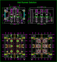 Opora Mould 2D Design Drawing